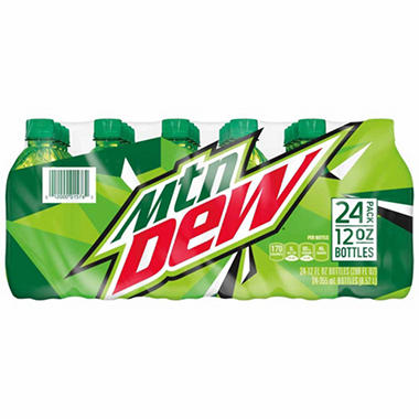Mountain Dew - 12 oz. bottles - 24 pk.