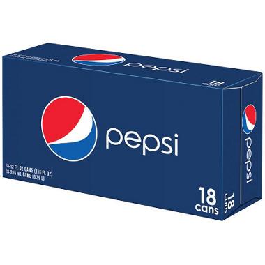 Pepsi - 12 oz. cans - 18 pk.