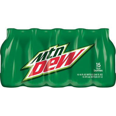 Mountain Dew - 16 oz. bottles - 15 pk. - 2 ct.