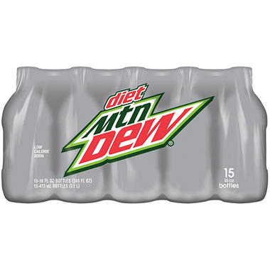 Diet Mountain Dew (16 oz. bottles, 15 pk.)