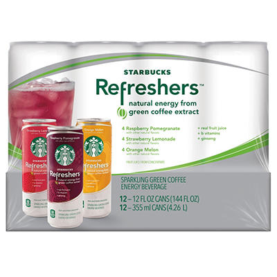 Starbucks Refreshers Variety Pack - 12 oz. cans - 12 pk.