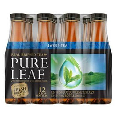 Lipton Pure Leaf Iced Tea - 18.5 oz. bottles - 12 pk.