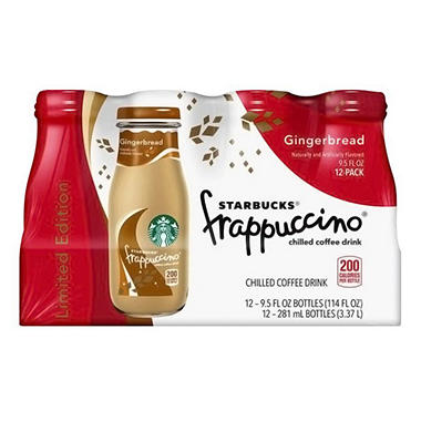 Starbucks Frappuccino Gingerbread (9.5 oz. glass bottle, 12 pk.)