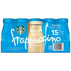 Starbucks Frappuccino Coffee Drink, Vanilla (9.5 oz. bottles, 15 pk.)
