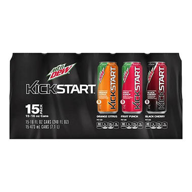 MT DEW KICKSTART VP 15 PK 16 OZ CAN