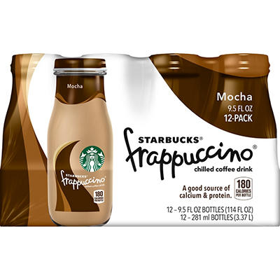 Starbucks Frappuccino Coffee Drink, Mocha (9.5 oz., 12 pk.)