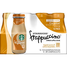 Starbucks Frappuccino Coffee Drink, Caramel (9.5 oz. bottle, 12 pk.)