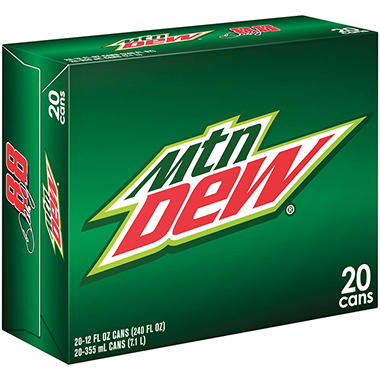 Mountain Dew - 12 oz. cans - 20 pk.