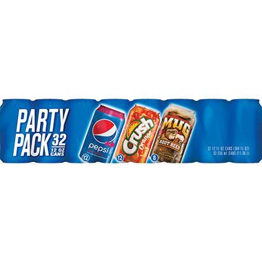 Wild Cherry, Orange Crush, Mug Root Beer Combo Pack - 12 oz. cans - 32 pk.