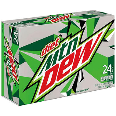 Diet Mountain Dew - 12 oz. cans - 6 pk. - 4 ct.