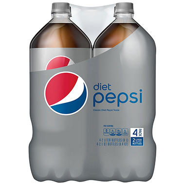 Diet Pepsi - 2L bottles - 4 ct.
