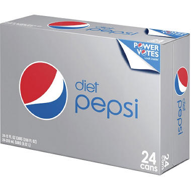 Diet Pepsi - 12 oz. cans - 24 ct.