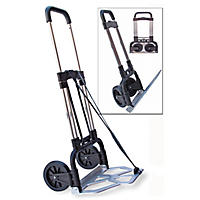 Stebco - Portable Slide-Flat Cart, 275lbs, 18 3/4 x 19 x 40, Black/Chrome