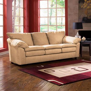 Tanner Microfiber Sofa - Camel.