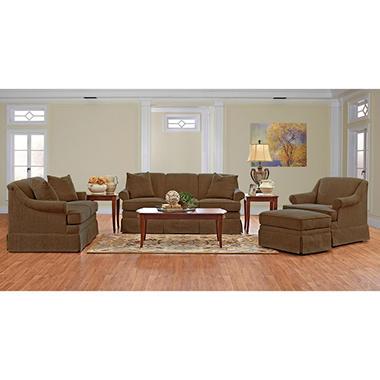 Prestige Audrey Living Room Collection - Olive (Choose Set Size)