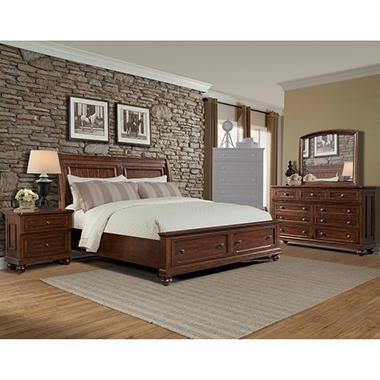 Wilmington Bedroom Set, Brown    415QDMN4