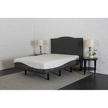 Enso Catalina Memory Foam Hybrid King Mattress and Adjustable Foundation Set (Various Models)