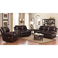 Prestige Designs XL Performance Deluxe Reclining Loveseat with Console, Brown