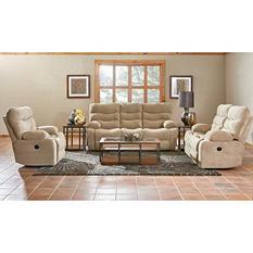 Prestige Designs XL Performance Hercules 3-Piece Set: Reclining Sofa, Loveseat and Chair, Beige