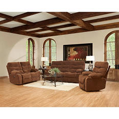 Prestige Designs XL Performance Hercules 3-Piece Set: Reclining Sofa, Loveseat and Chair, Brown