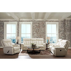 Prestige Designs XL Performance Deluxe 3-Piece Set: Reclining Sofa, Loveseat and Chair, White