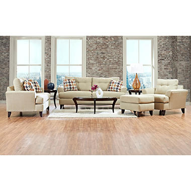 Prestige Carmen Sofa, Loveseat, Chair and Ottoman Collection