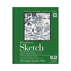Strathmore 400 Series Premium Recycled Sketch Pad, 60 Pound, 9 x 12 Inches, 100 Sheets