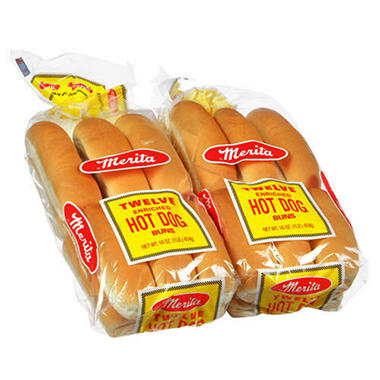 Merita® Hot Dog Buns - 12 ct. - 2 pks.