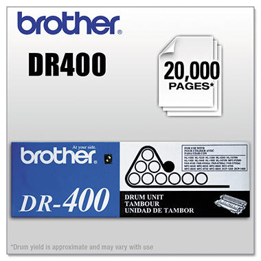 Brother DR400 Drum Unit (20000 Page Yield)