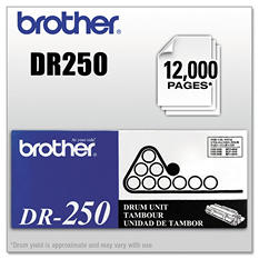 Brother DR-250 Drum Unit, Black (12,000 Yield)