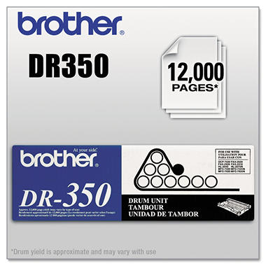 Brother DR-350 Drum Unit, Black (12,000 Yield)