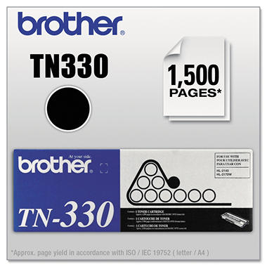 Brother TN330 Toner Cartridge, Black (1500 Page Yield)