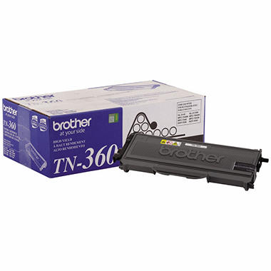 Brother TN360 High-Yield Toner Cartridge, Black (2600 Page Yield)
