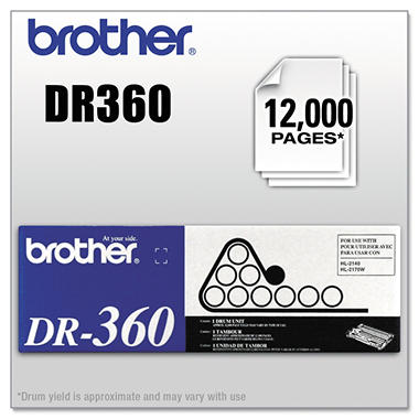 Brother DR360 Drum Unit (12000 Page Yield)