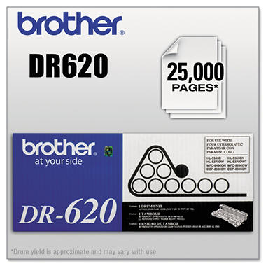 Brother DR-620 Drum Unit, Black (25,000 Page Yield)