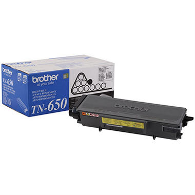 Brother TN650 High-Yield Toner - Yields up to 8,000 pages - Black