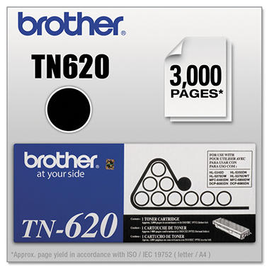 Brother TN620 Toner Cartridge, Black (3000 Page Yield)