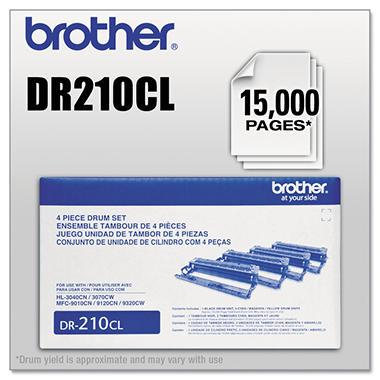 Brother DR-210CL Drum Unit, Black/Color (15,000 Yield)