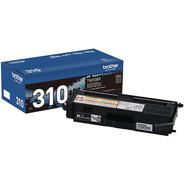 Brother TN310 Toner Cartridge, Select Color (1500 Page Yield)