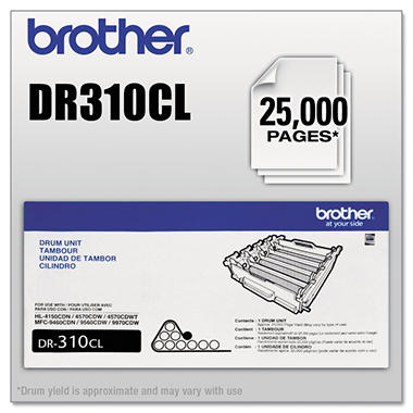 Brother DR-310 Drum Unit, Black (25,000 Yield)