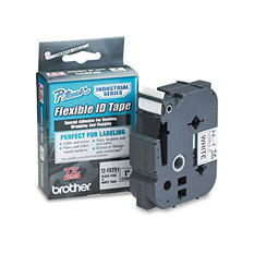 Brother P-Touch - TZe Flexible Tape Cartridge for P-Touch Labelers, 1in x 26.2ft -  Black on White