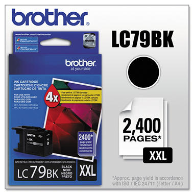 Brother LC79BK Super High-Yield Ink - Black - 2,400 Page Yield