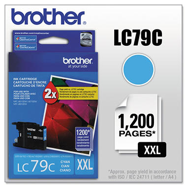 Brother LC79C Super High-Yield Ink - Cyan - 1,200 Page Yield