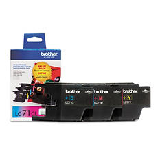 Brother LC71 Innobella Ink Cartridge, Cyan/Magenta/Yellow (3 pk., 300 Page Yield)