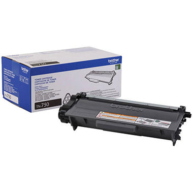 Brother TN750 High-Yield Toner Cartridge, Black (8000 Page Yield)