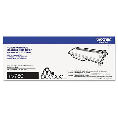 Brother TN780, TN750 or TN720 Toner Cartridge, Black, Select Page Yield