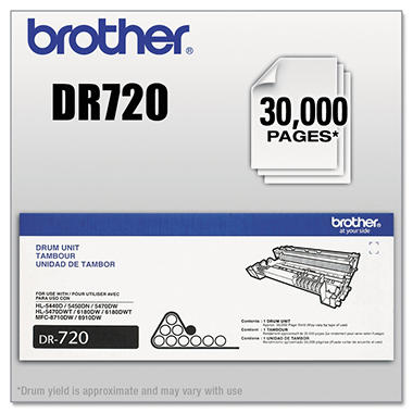 Brother DR720 Drum Unit (30000 Page Yield)
