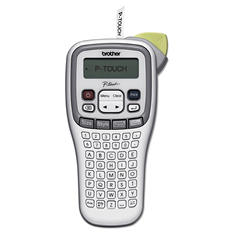 "Brother P-Touch - PT-H100 Label Maker, 2 Lines, 4-3/8""W x 8-3/8""D x 2-3/8""H"