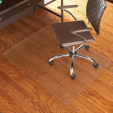 "ES Robbins Rectangle Folding Chair Mat for Hard Wood Floors - 39"" x 47"""