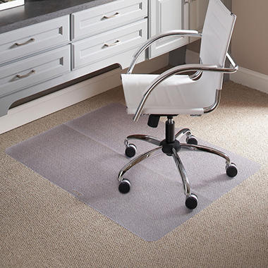 "ES Robbins Rectangle Folding Chair Mat for Carpet - 39"" x 47"""